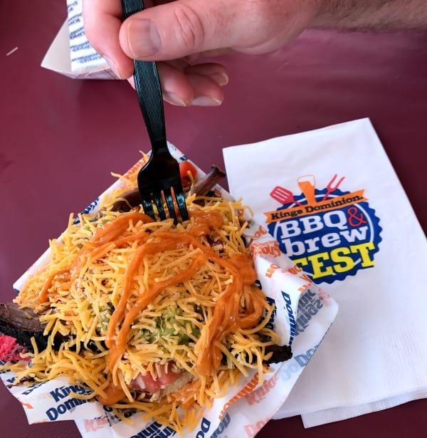 Kings Dominion BBQ and Brew Fest 2018 Texas nachos