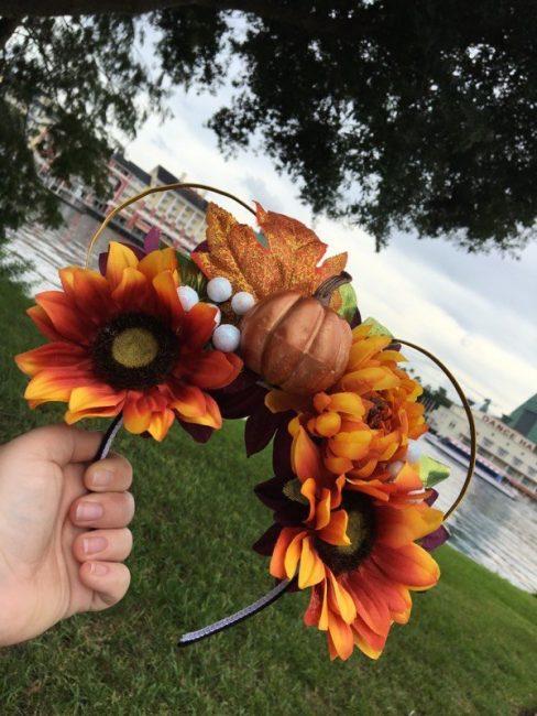 Disney World DIY Fall Mickey Ears Headband