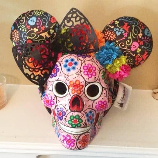 Coco Mickey headband ears on Day of the Dead Sugar Skull