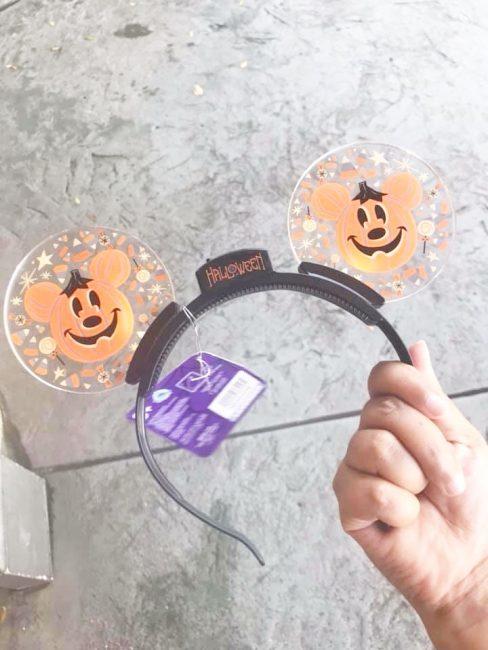 pumpkins light up Mickey ears for Halloween Disney Ears