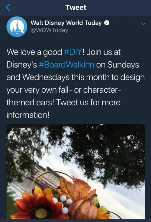 Boardwalk DIY Ears Twitter