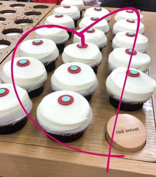 red velvet sprinkles cupcakes
