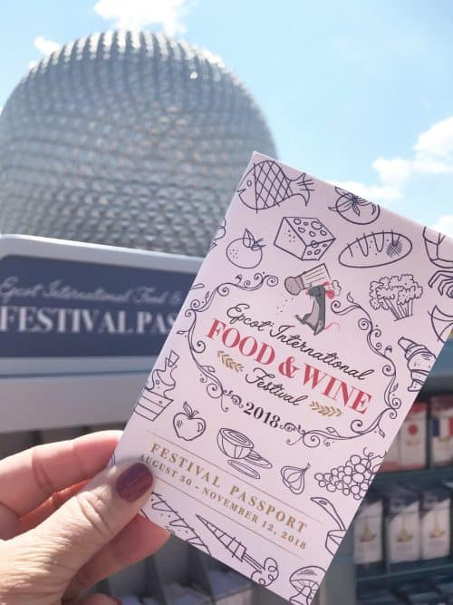 Disney World Food and Wine Festival Passport at Epcot