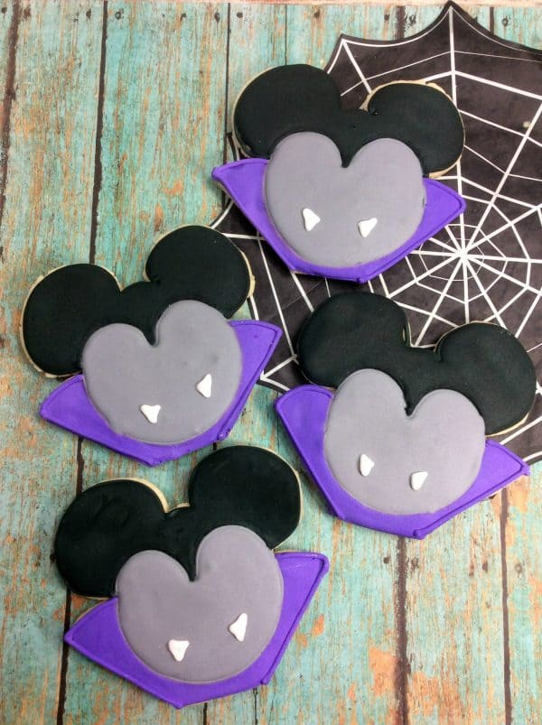 Mickey Mouse Vampire Sugar Cookies