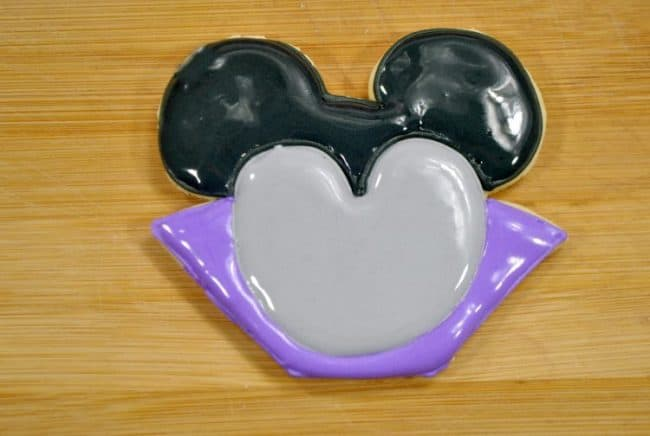 Vampire Mickey Mouse cookies with frosting