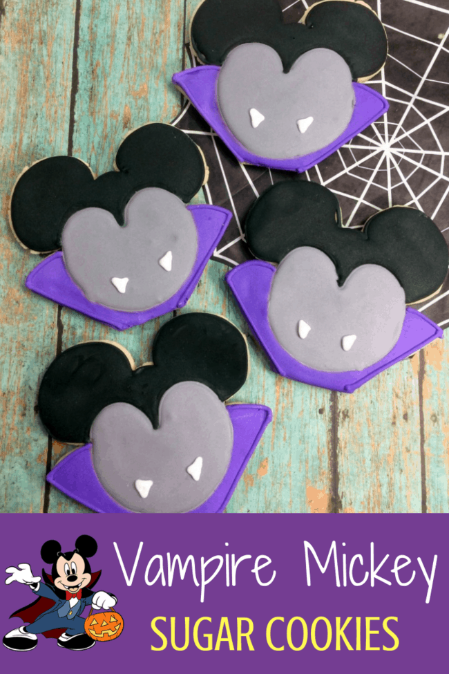 Vampire Mickey Mouse Cookies