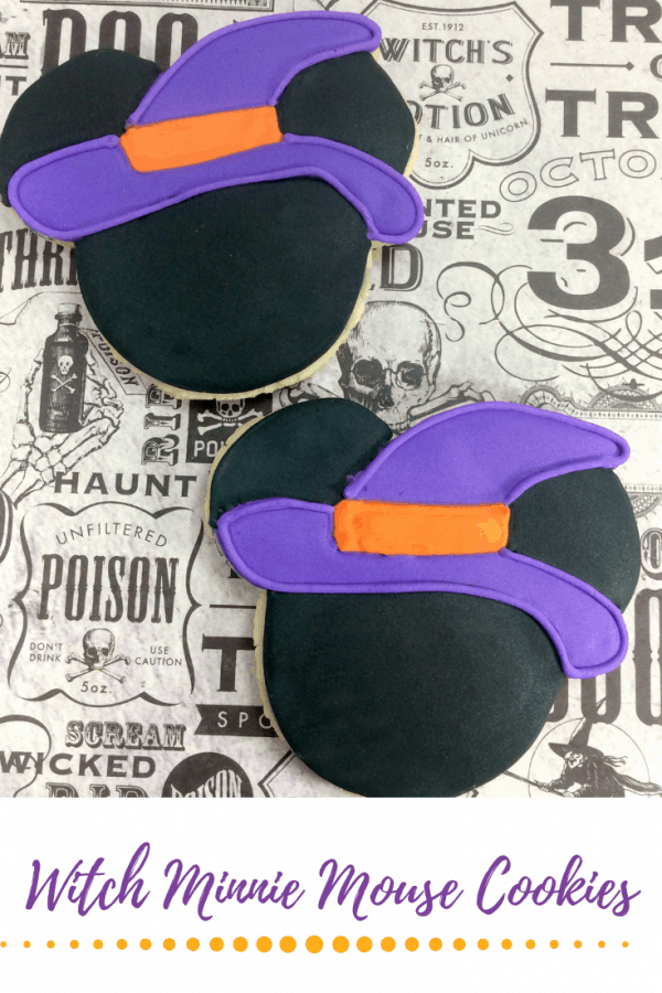 Make your own Witch Minnie Mouse Cookies for your kids Halloween party.