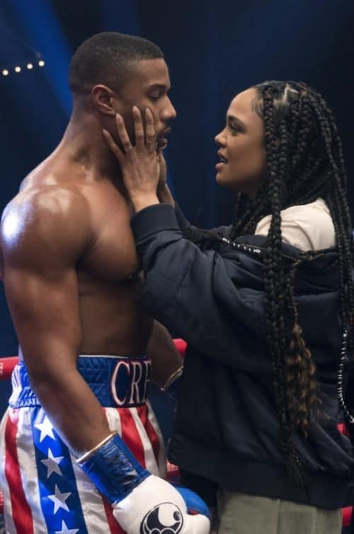 Adonis and Biana (Michael B Jordan and Tessa Thompson) in Creed 2