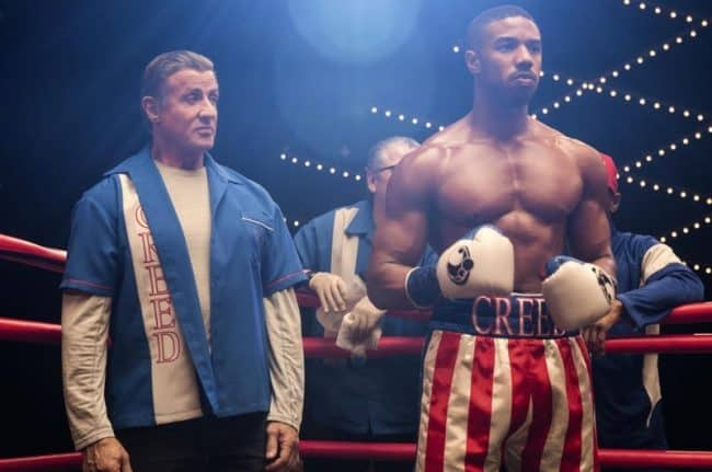 Creed 2 adonis (michael b jordan) and rocky (Sylvester Stallone)