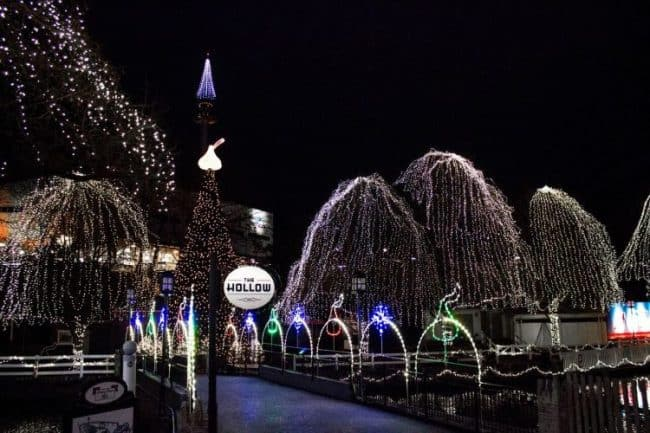 hersheypark christmas lights in the park