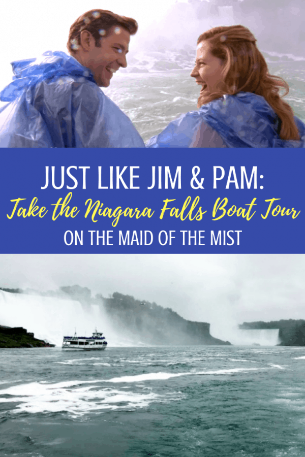 Calling all fans of The Office: here's everything you need to know about taking the Niagara Falls boat tour on the Maid of the Mist, just like Jim and Pam! And yes: you CAN have a wedding on the boat.