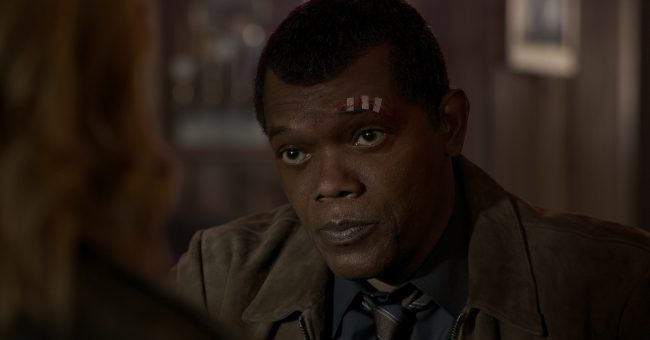 Marvel Studios' CAPTAIN MARVEL..Nick Fury (Samuel L. Jackson)