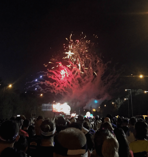 disney world marathon start line fireworks