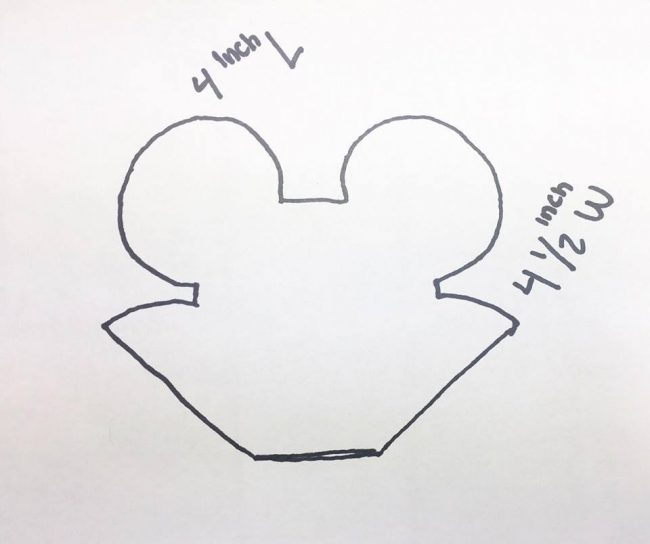 vampire mickey cookie cutter pattern