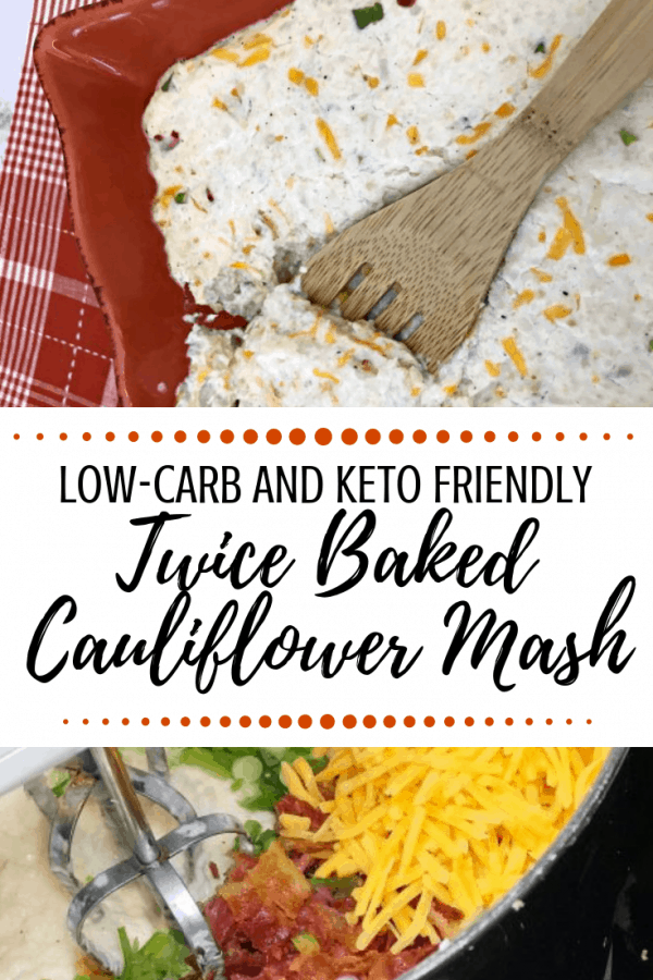 twiced baked Cauliflower Mash recipe