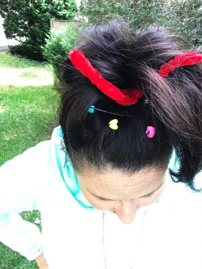 DIY vanellope costume hair accessories