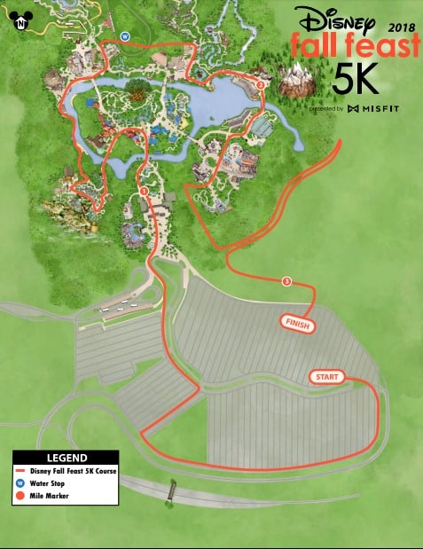 runDisney wine dine 5k course map 2018