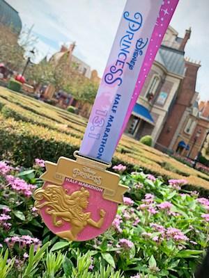 2019 Princess Half Marathon medal Aurora