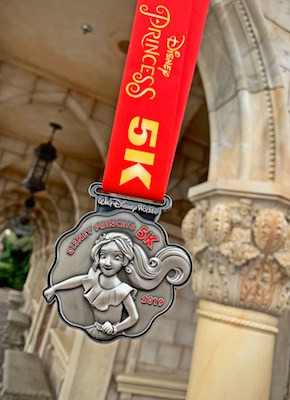 2019 Princess 5K medal with Elena of Avalor