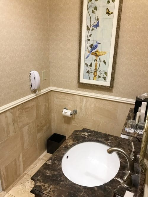 The Hotel Hershey suite bathroom