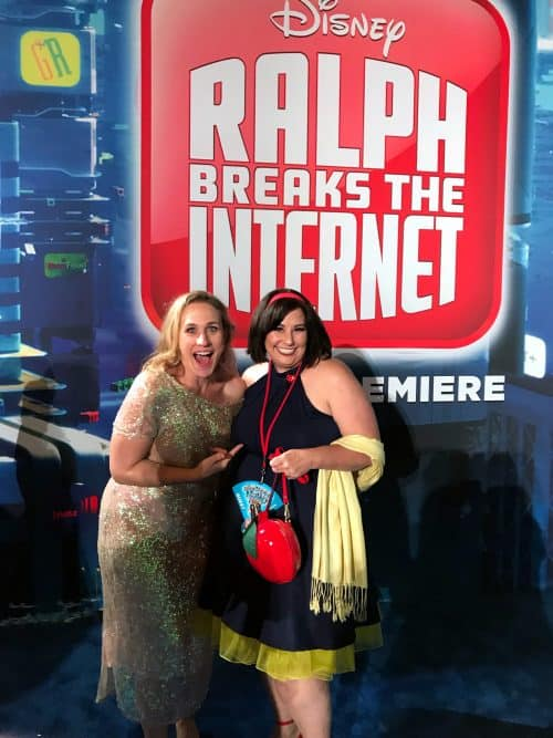 Pamela Ribon voice of Snow White in Ralph Breaks the Internet red carpet