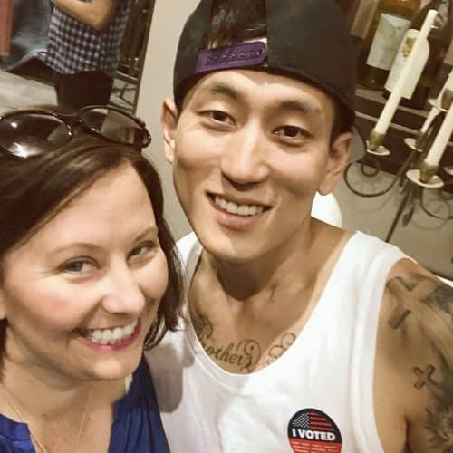 ABC's Single Parents set visit Jake Choi Selfie