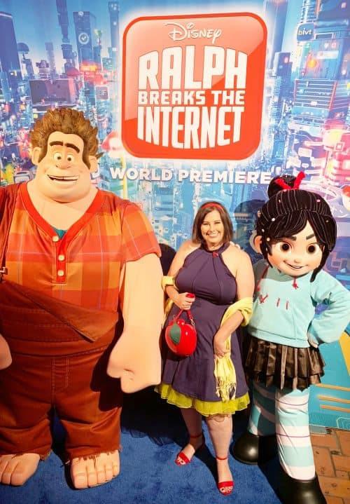 Vanellope and Ralph at the Ralph Breaks the Internet Red Carpet Premiere