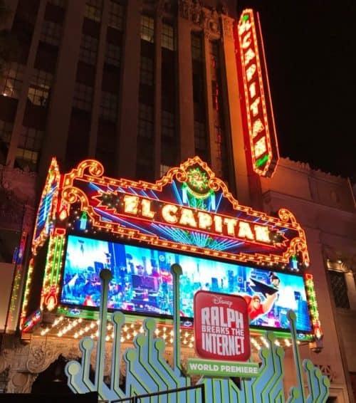 El Capitan Theatre Ralph Breaks the Internet Red Carpet Premiere