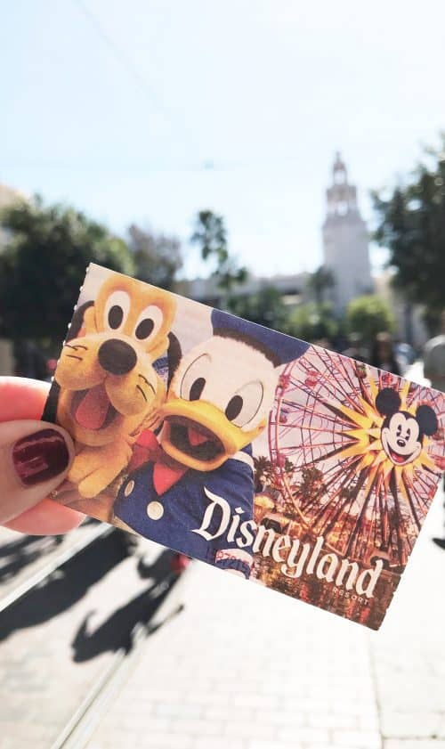 Disneyland ticket with MaxPass