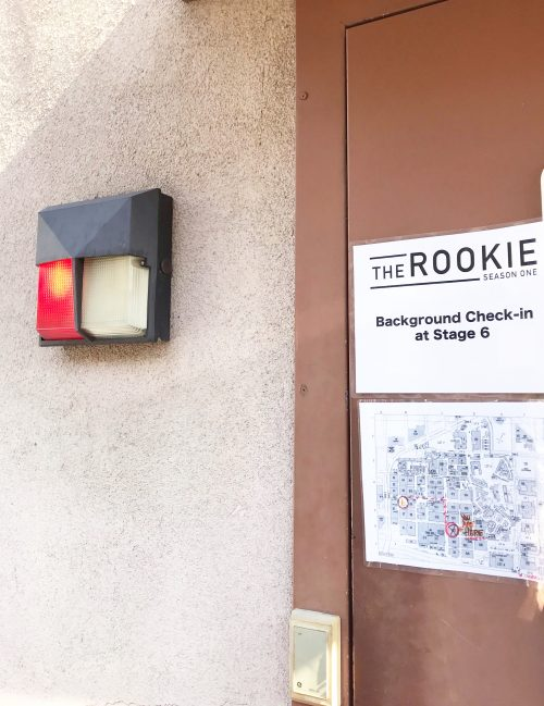Red light on the outside of The Rookie Studio Lot