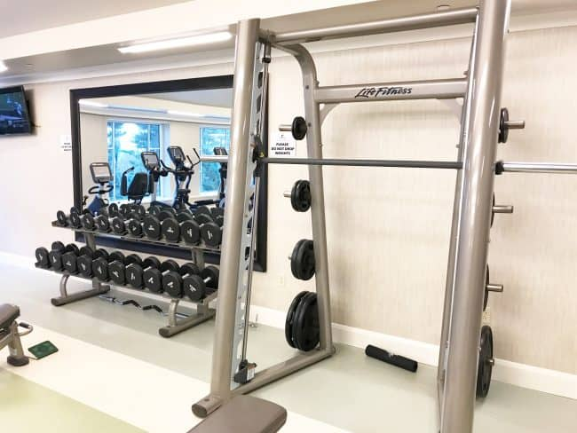 the hotel hershey fitness center free weights