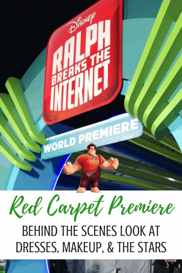 Ralph Breaks The Internet Red Carpet fashion