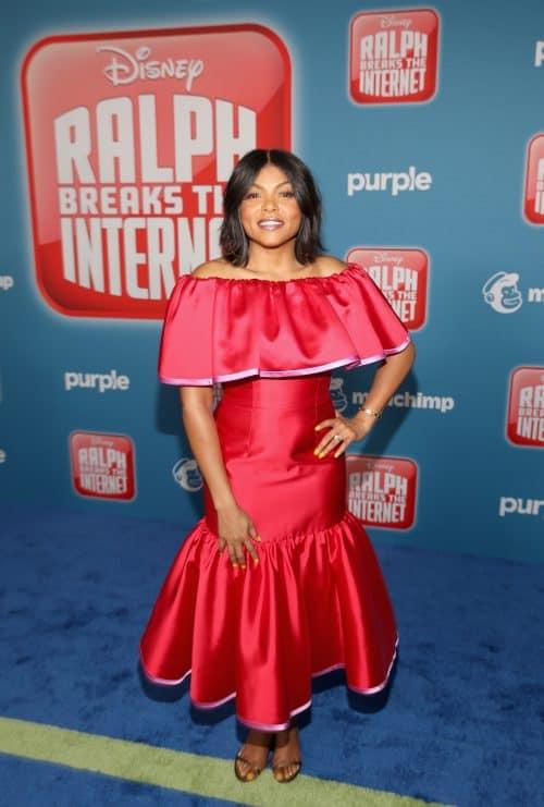 Taraji P. Henson YESSS in Ralph Breaks the Internet Red Carpet Premiere
