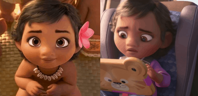 baby moana in Ralph breaks the internet easter eggs