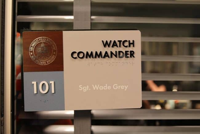 Watch Commander Sgt Wade Grey's office ABCs The Rookie