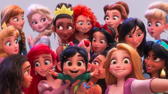 selfie ralph breaks the internet princesses