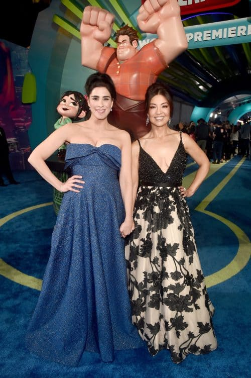 Sarah Silverman and Ming-Na Wen on Ralph Breaks the Internet red carpet