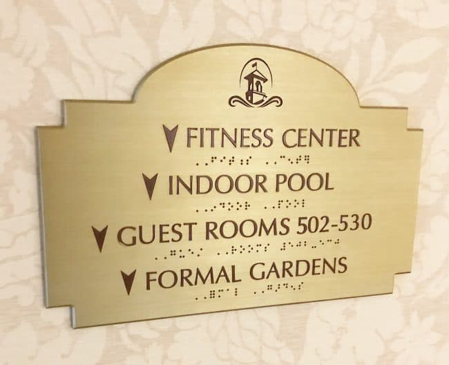 hotel hershey fitness center and pool sign