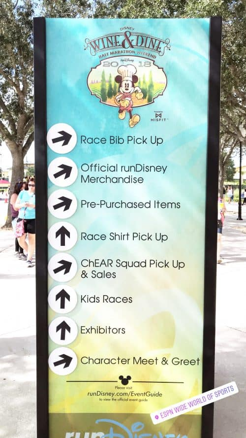 rundisney expo signs