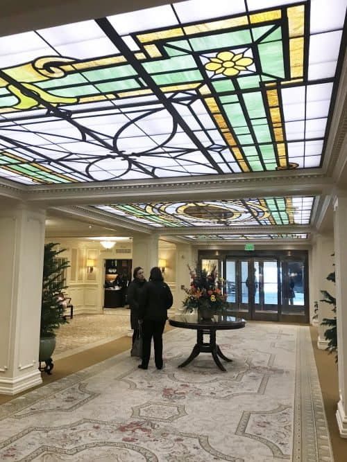 The Hotel Hershey Lobby stained glass