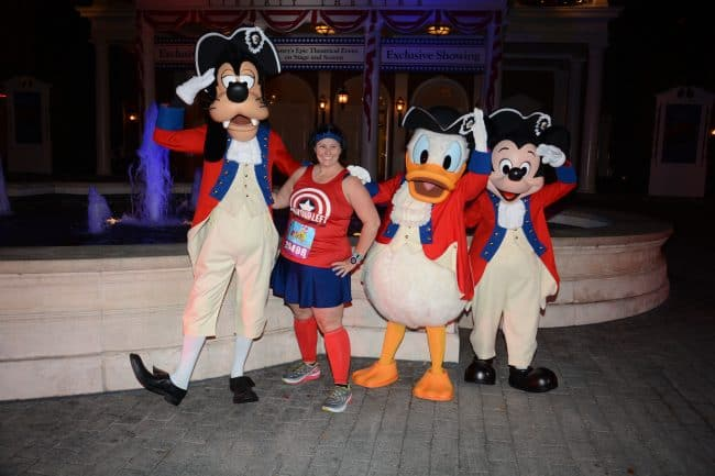 Disney World Marathon 10K Colonial Goofy, Donald and Mickey