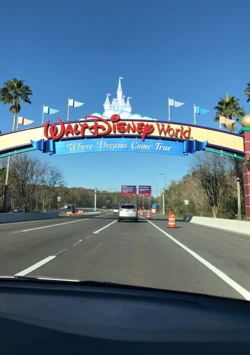 disney world entrance sign