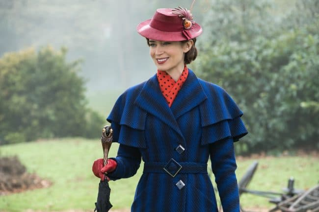 Emily Blunt is Mary Poppins in Mary Poppins Returns