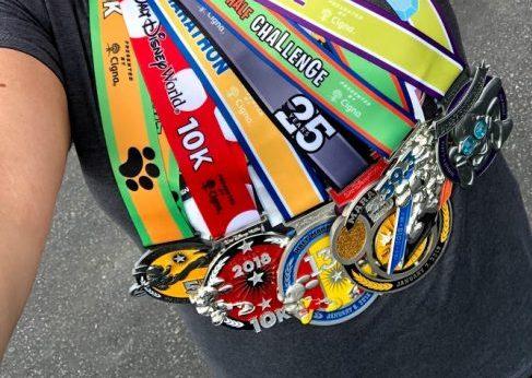 rundisney Dopey Challenge medals