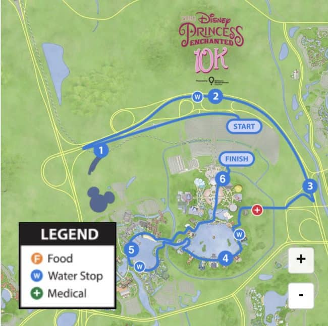 2019 Princess 10K course map