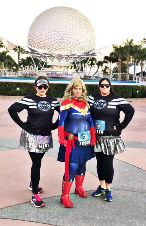 Captain Marvel Costume and Agents of Shield costume rundisney 101