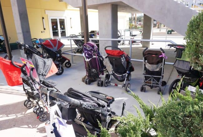 rundisney expo stroller parking
