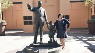 Walt and Mickey Partners Statue Disney Studios
