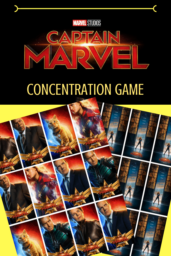 captain marvel posters concentration game