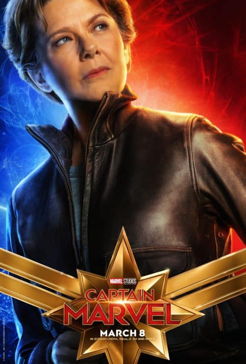 Captain Marvel movie poster annette benning